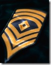 U.S. Army First Sergeant Epaulet --- Image by © Royalty-Free/Corbis